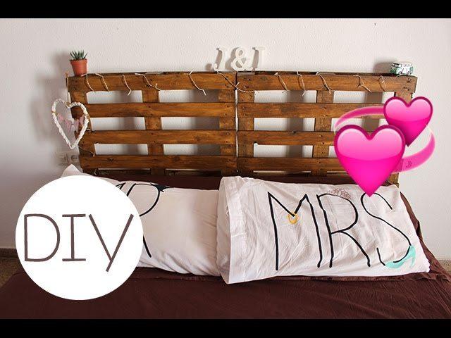 C mo hacer una cabecera para tu cama con palets tuiris - Como hacer una cama con palets ...