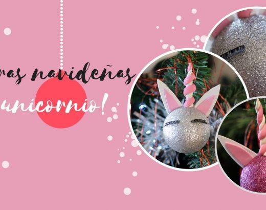 ¡Haz tus propias esferas navideñas de unicornio!